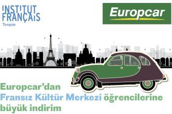 Europcar'dan Fransız Kültür Merkezi öğrencilerine indirim