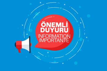 Information Importante, 16 Mars – 30 Avril 2020