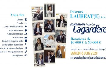 Appel à candidatures – LES BOURSES DE LA FONDATION JEAN-LUC LAGARDÈRE