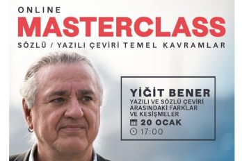 Masterclass avec Yiğit Bener, Traduction & Interprétation :  Concepts fondamentaux – 4 (en turc)