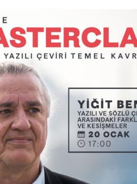Masterclass avec Yiğit Bener, Traduction & Interprétation : Concepts fondamentaux – 4 (en turc)
