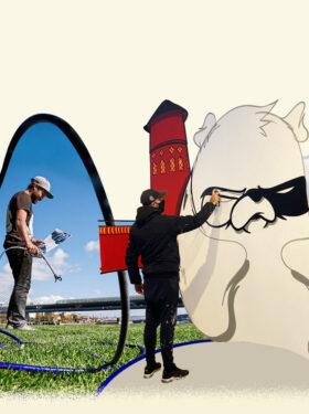 SAYPE VE LEO LUNATIC ILE MASTERCLASS : LAND ART & STREET ART